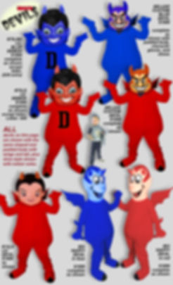 Facemakers Devil Mascot Costumes
