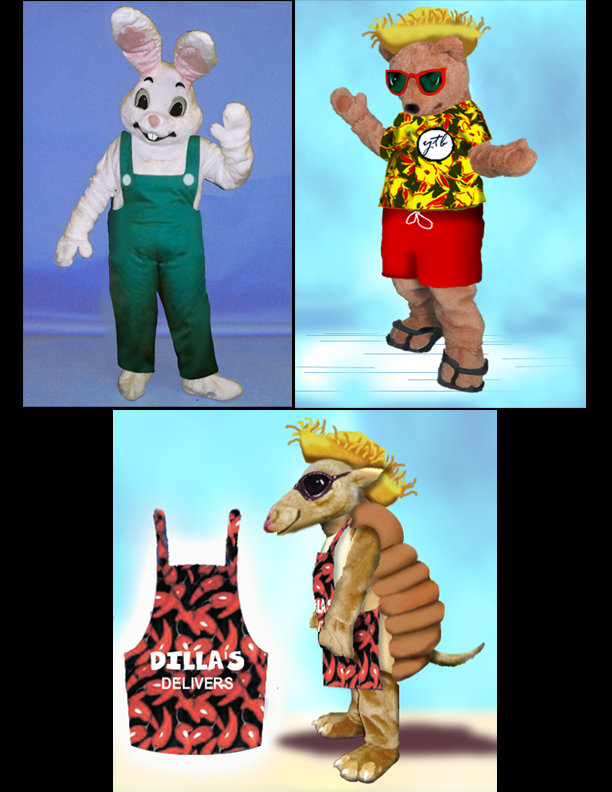 Facemakers Mascot Costume Clothes