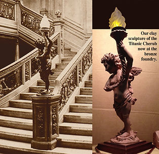 Titanic sculptor Alan St George's Cherub Faithfully Reproduced in Bronze for your collection