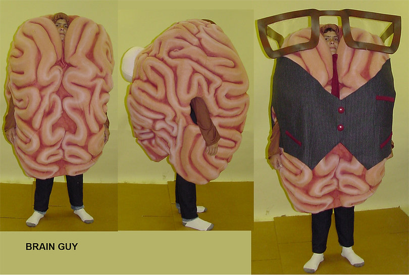 Facemakers Brain Mascot Costumes