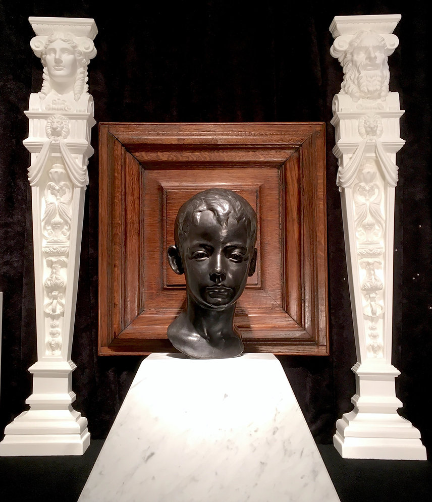 Rhoda Mary Abbott's youngest son, Eugene Abbott, lost on Titanic. Extremely lifelike bronze bust of the 13 year-old victim of the disaster.