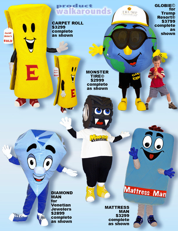 Facemakers Corporate Mascot Costumes