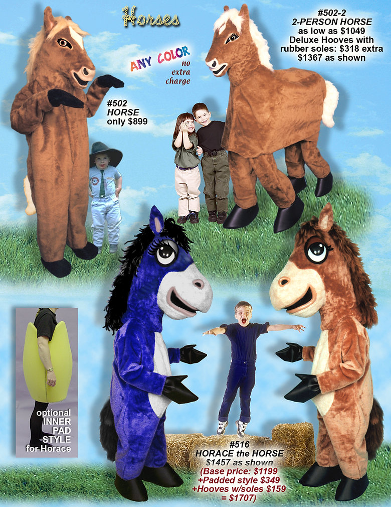 Facemakers Horse Mascot Costumes
