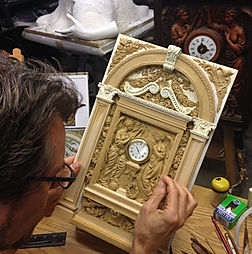 """Titanic sculptor Alan St George working on his recreation or """"Honour and Glory Crowning Time"""""""
