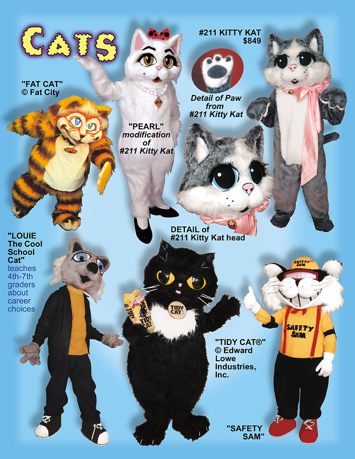 Facemakers cats mascot costumes