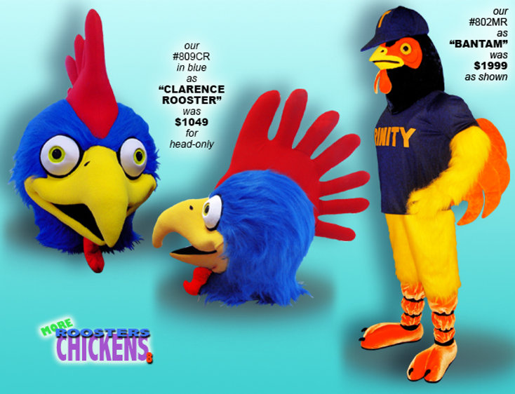 Facemakers Rooster Mascot Costumes