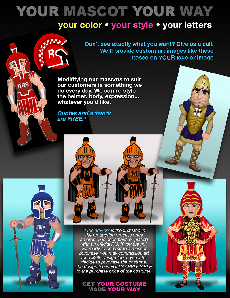 Facemakers Custom Mascot Costumes