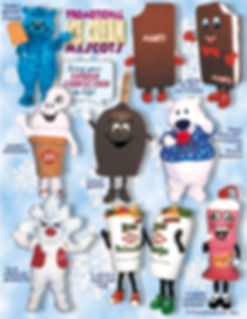 Facemakers Ice Cream Mascot Costumes