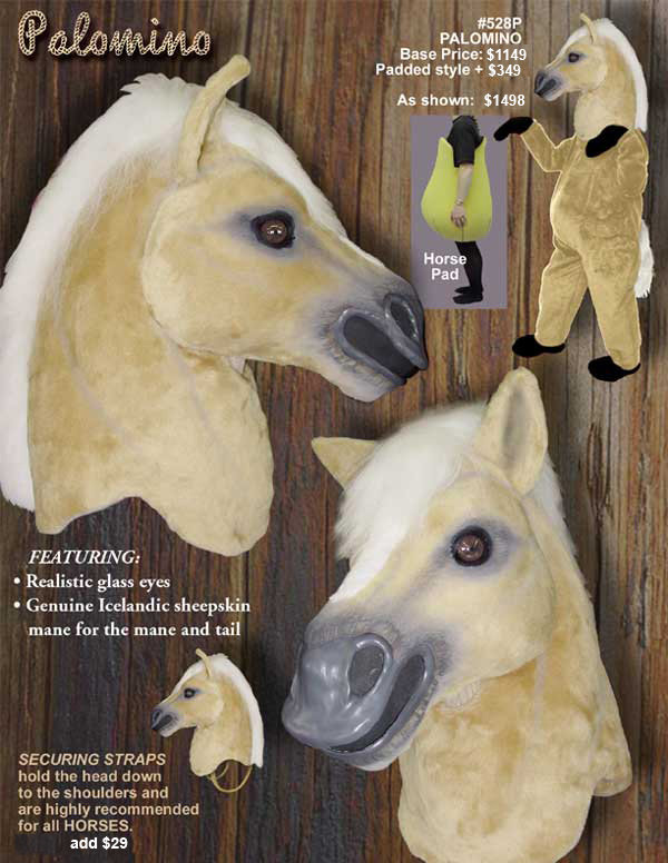Facemakers Palomino Horse Mascot Costumes