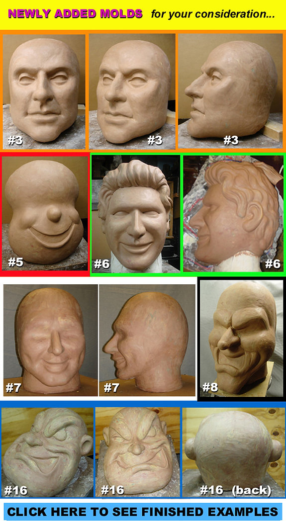 Facemakers male mascot heads 10