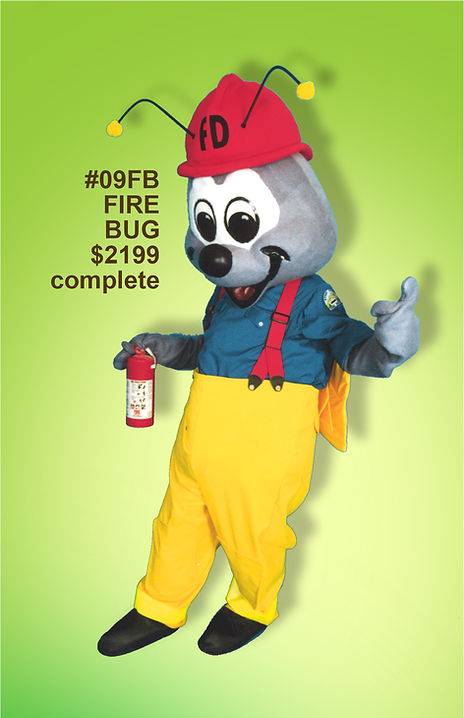 Facemakers Fire Bug mascot costumes
