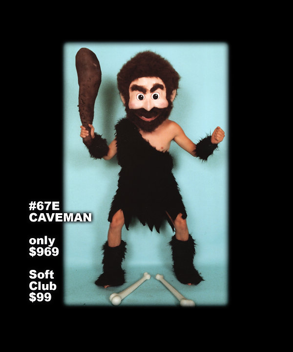 Facemakers Caveman Mascot Costumes