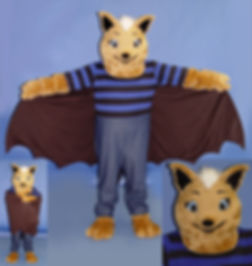 Facemakers Bat Mascot Costumes