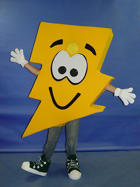 Facemakers Lighning Bolt Mascot Costumes