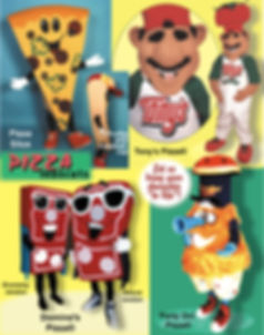 Facemakers Pizza Mascot Costumes