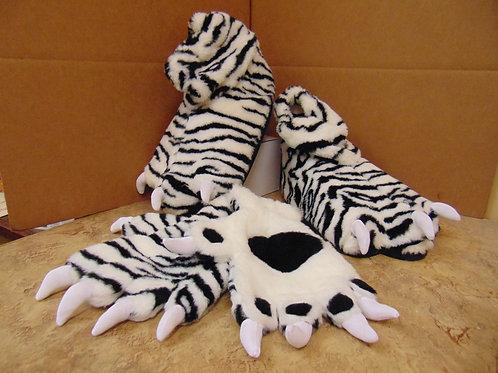 Deluxe White Tiger Gloves & Feet Set