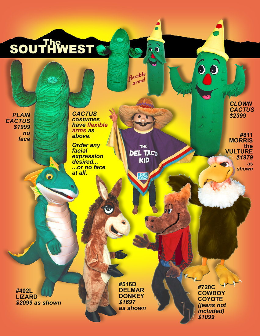 Facemakers Cactus Mascot Costumes