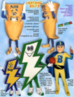 Facemakers Lightning Bolt Mascot Costumes