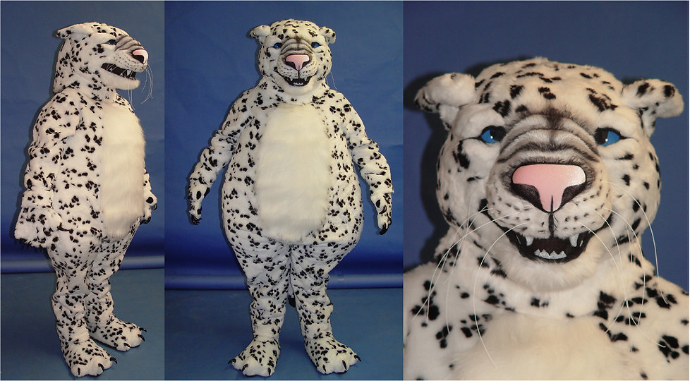 Facemakers snow leopard mascot Costumes
