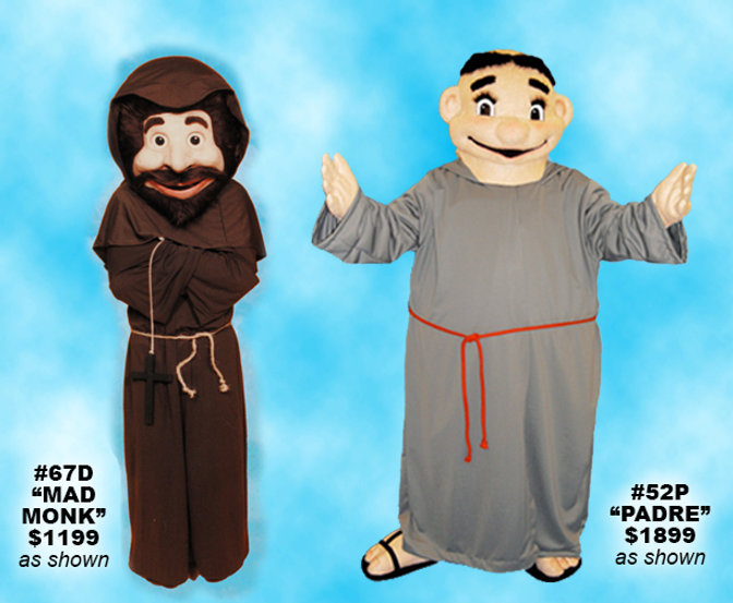 Facemakers Monk Mascot Costumes