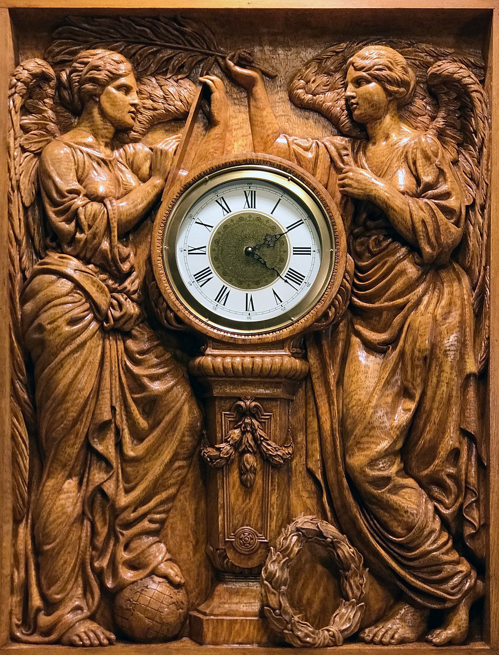 """""""Honor & Glory Crowning Time"""" recreated clock by Titanic sculptor Alan St. George"""