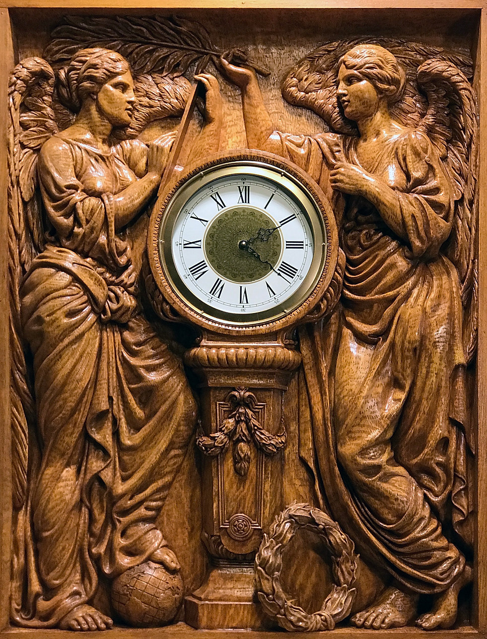 """Honor & Glory Crowning Time"" recreated clock by Titanic sculptor Alan St. George"