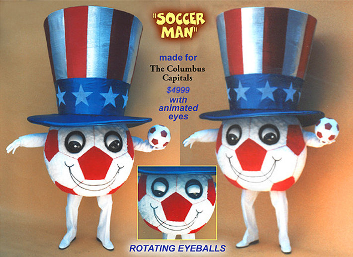 Facemakers Soccer Mascot Costumes