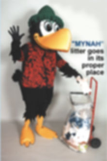 Facemakers Mynah Bird mascot costumes