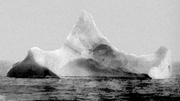 The iceberg that took down the RMS Titanic.