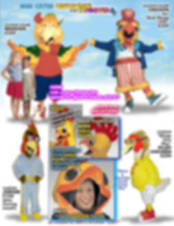 Facemakers Chicken Mascot Costumes