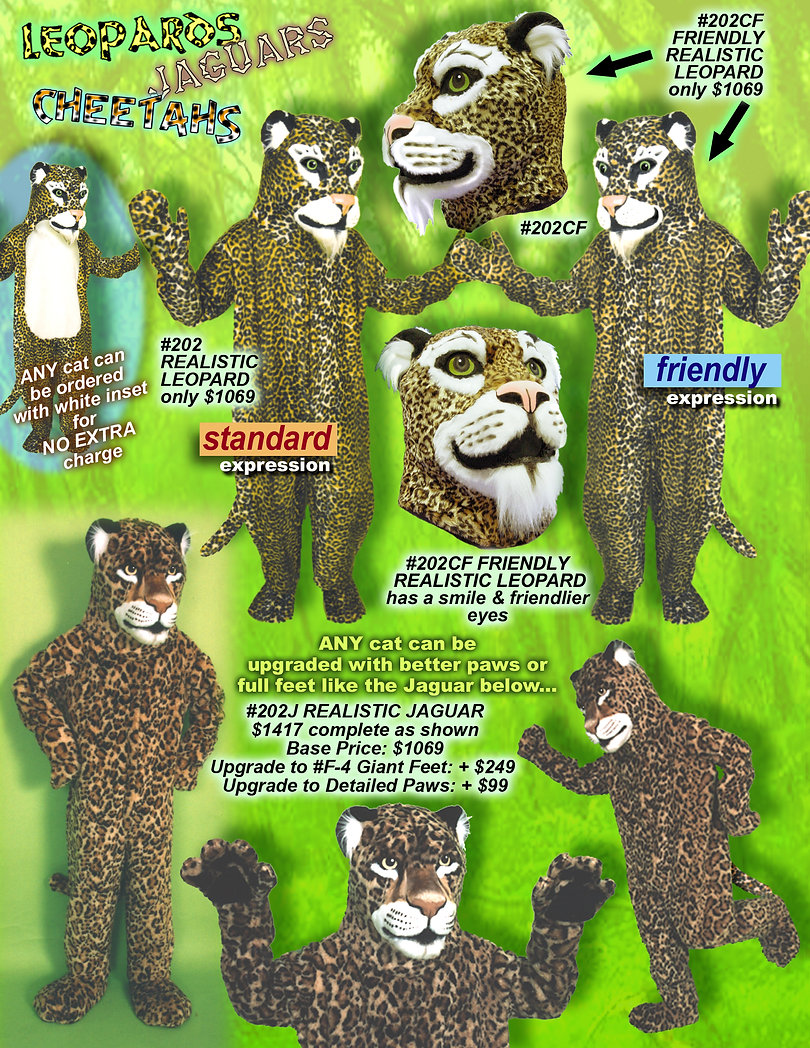 Facemakers Leopard mascot costumes
