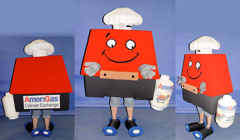 Facemakers BBQ Grill Mascot Costumes