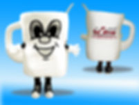 Facemakers Coffee Mug Mascot Costumes