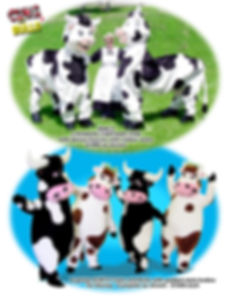 Facemakers Disney Cow and Bull mascot costumes