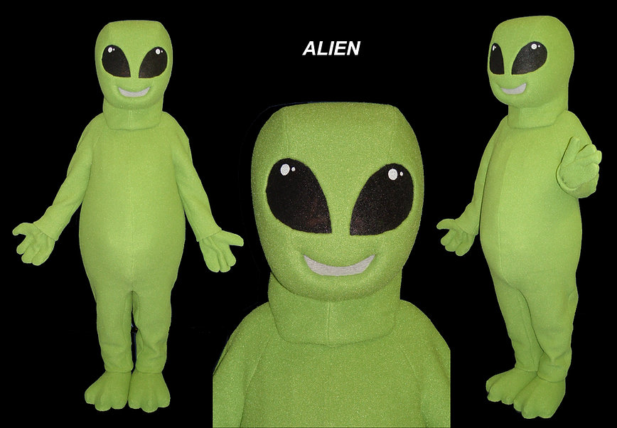 Facemakers Alien Mascot Costumes