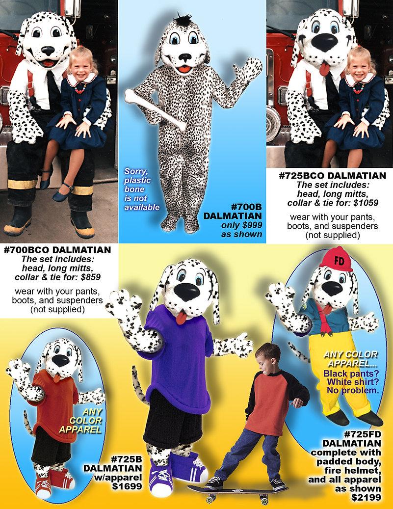 Facemakers Dalmatian mascot costumes