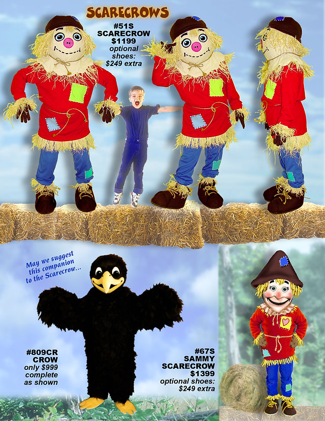 Facemakers Scarecrow Mascot Costumes