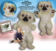 Facemakers Pekingese Dog Mascot Costumes