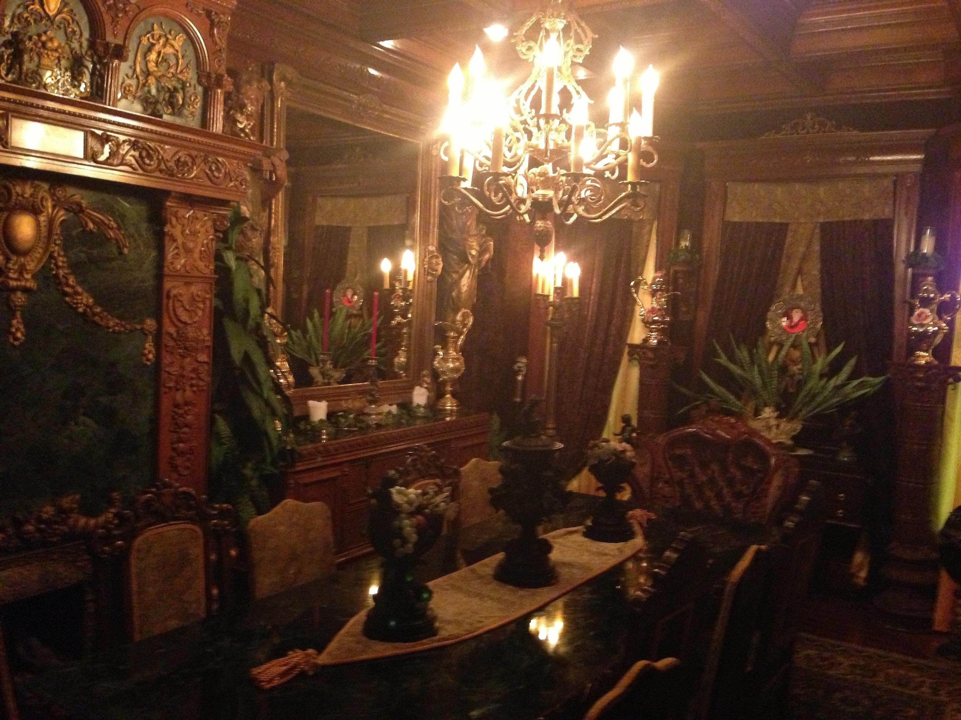 Castle Dining Room Havencrest Castle Tours Savanna Illinois Wedding Venue