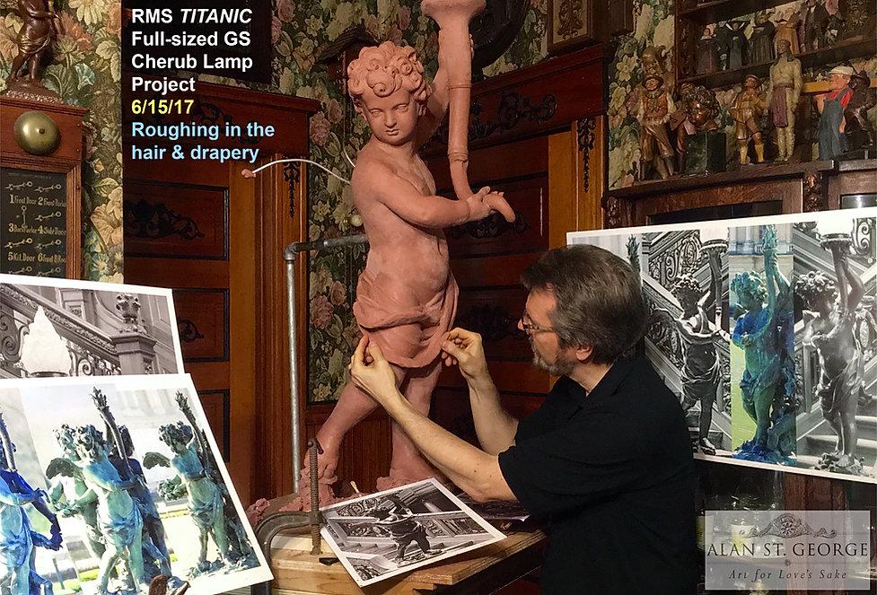 Alan St George makes the full-sized RMS Titanic cherub