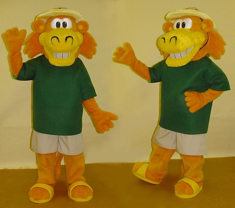 Facemakers custom-made Safari Sam mascot costume