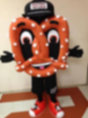Facemakers Pretzel mascot costumes