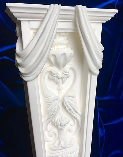 RMS Titanic's Dining Room Caryatid Pilaster (detail) as recreated by sculptor Alan St. George