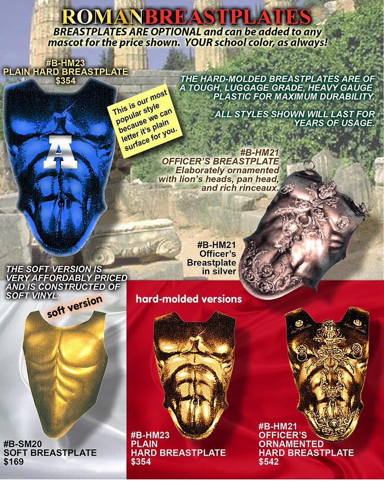 Facemakers Spartan-Trojan Mascot Costumes