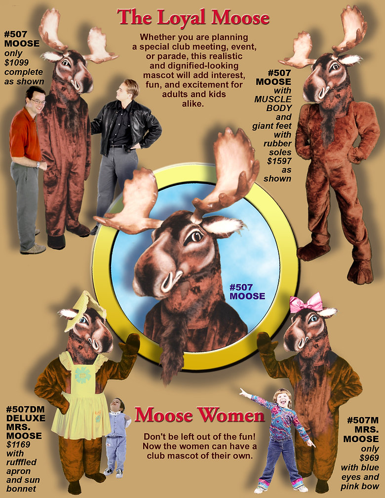 Facemakers Moose Club Mascot Costumes