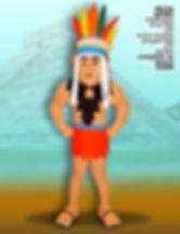 Facemakers Aztec Mascot Costumes