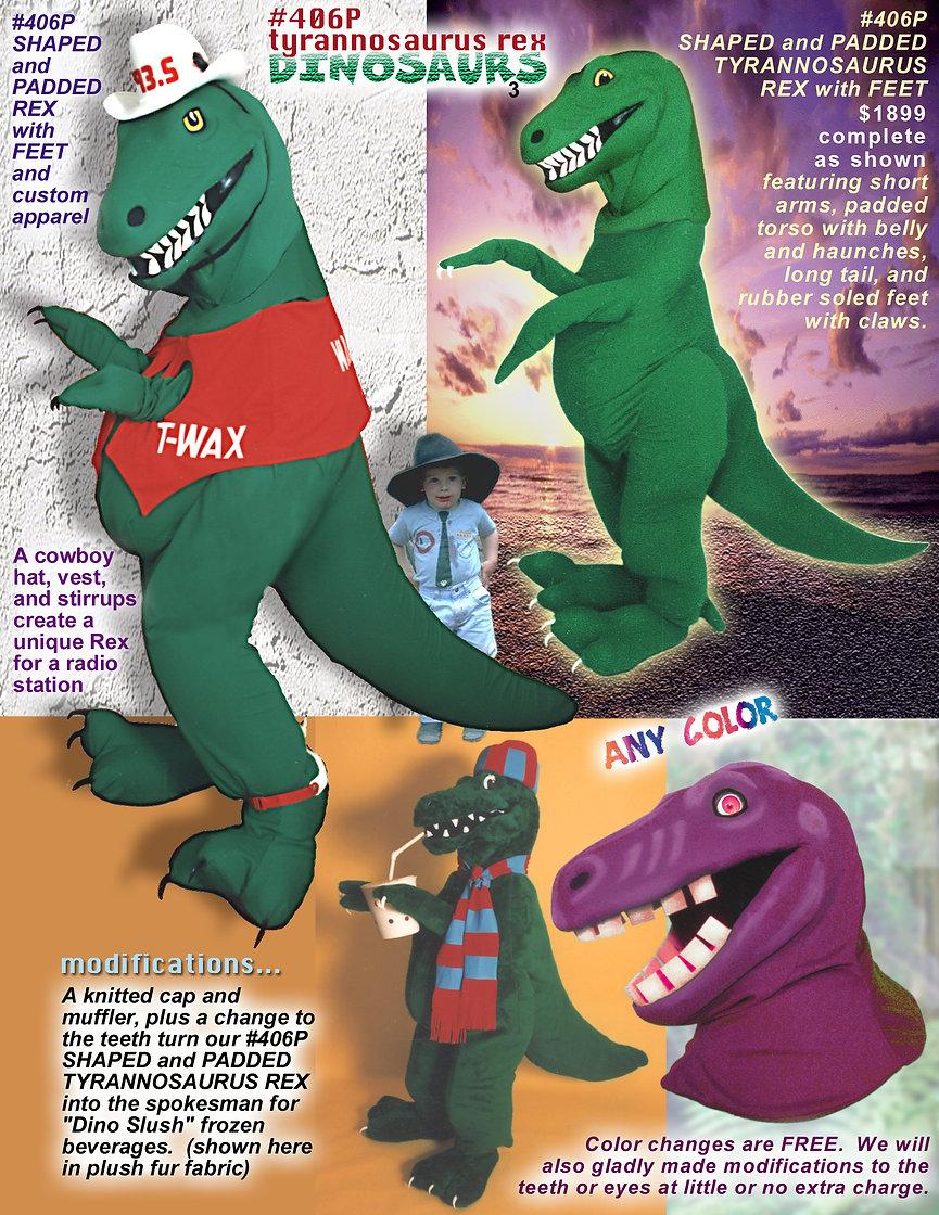Facemakers Tyrannosaurus Rex mascot costume