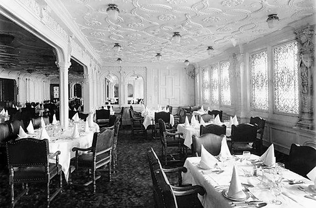 Titanic's first-class dining room