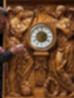 Titanic sculptor Alan St. George completes the Honor & Glory figural panel of the famous clock.