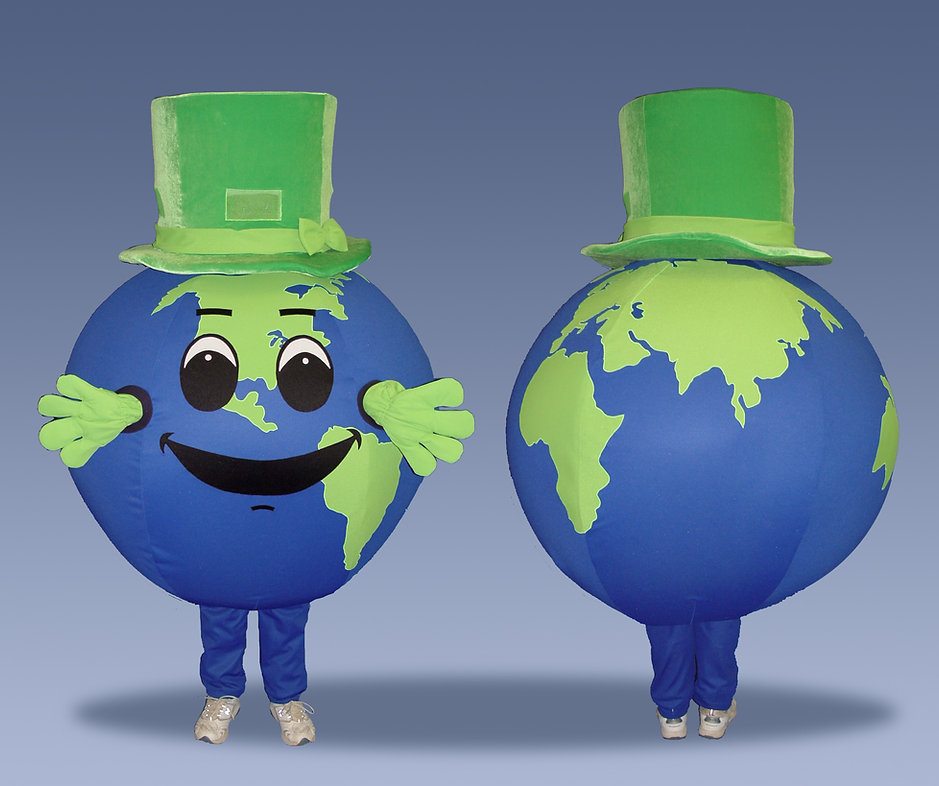 Facemakers Globe Mascot Costumes